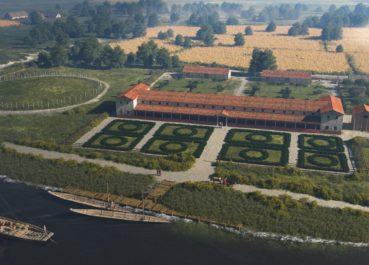 impressie van de Romeinse villa op de Tienakker door Mikko Kriek